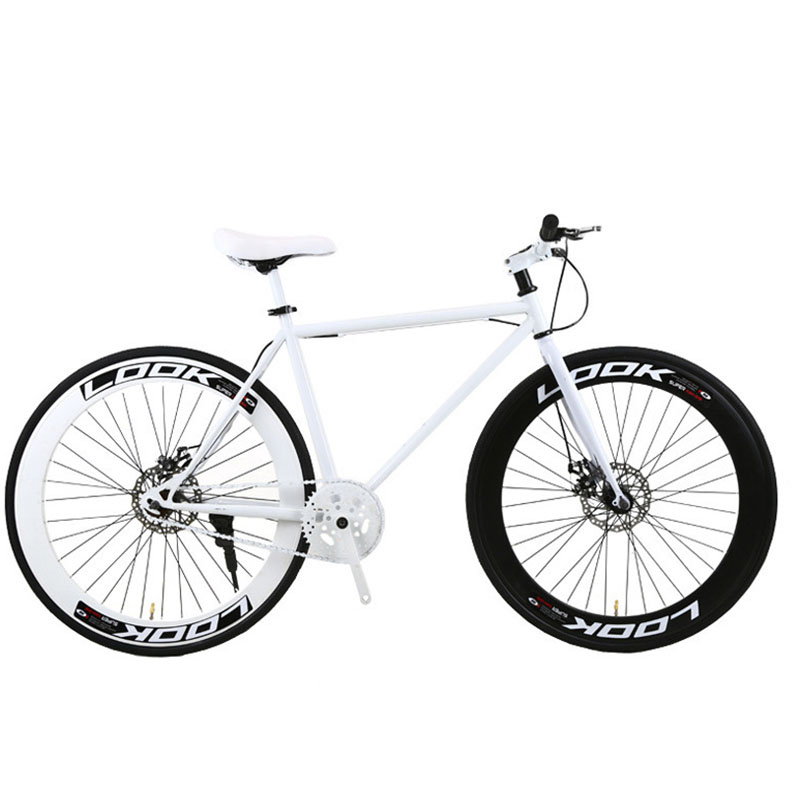 Fixed Gear Bicycle Bike 60 Knife Retro Track Single Speed Bike Color Frame Man Woman And Students 2019 New