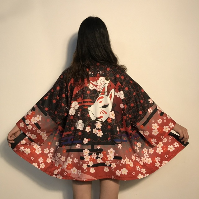 Womens tops and blouses 2020 harajuku kawaii shirt Japanese streetwear outfit kimono cardigan female yukata blouse women AZ004 4