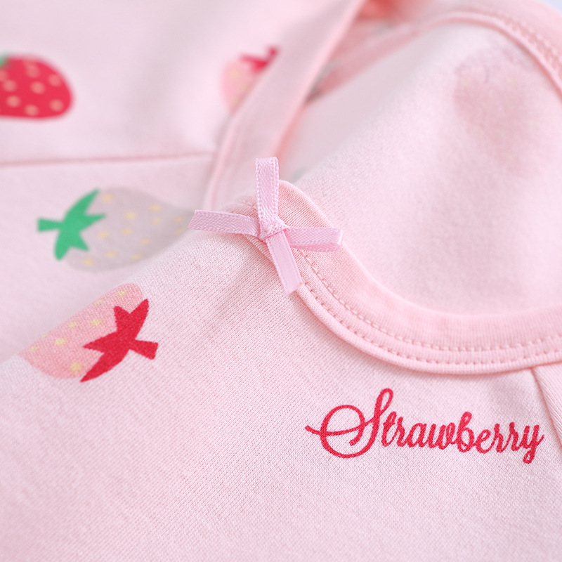Children Long Sleeve Pajamas Autumn And Winter Pure Cotton BAMAQIN 18 Girls' Pajama Long Sleeve Spring And Autumn Children Track