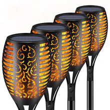 Waterproof Light Flame-Lamp Garden-Decoration Solar Outdoor LED for Automatic Dusk Safety