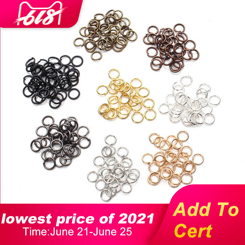 100-200pcs DIY Jewelry Findings Open Single Loops Jump Rings Split Ring for jewelry making Open Jump Rings Connectors Wholesale