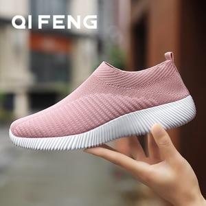 Image 1 - Sıcak satış koşu ayakkabıları kadın bahar bayanlar ayakkabı örgü spor ayakkabılar hafif spor ayakkabı yaz yeni kapalı daireler ayakkabı büyük boy