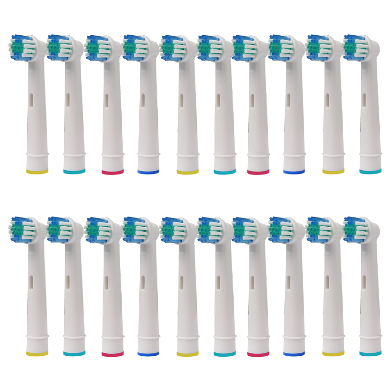 20PCS  Replacement Toothbrush Heads For Braun Electric Tooth Brush Vitality Sensitive Nozzles Teeth Whiteing SB-17