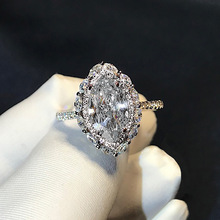 цена на S925 Sterling Silver Anillos Mujer Bague Diamond Ring for Women Anillo Plata 925 Mujer Silver 925 Jewelry Diamond Ring Men Box