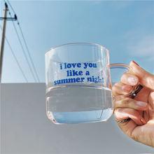 Короткая прозрачная кружка для кофейного стекла питьевое стекло