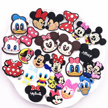 1Pcs PVC Cartoon Mickey Minnie Icon Brooch Pins Badge Anime Figure Pins Button Badge Backpack Clothes Hat Decor Kids Gift(China)