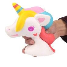 Кавайный Единорог, мягкие игрушки для детей, забавные игрушки-антистресс, милые медленно растущие игрушки, большие мягкие игрушки, подарок для детей