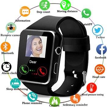 X6 Bluetooth inteligentny zegarek z uchwyt na aparat SIM karty TF ekran dotykowy budzik monitorowanie snu Sport zegarek dla Kid mężczyźni kobiety