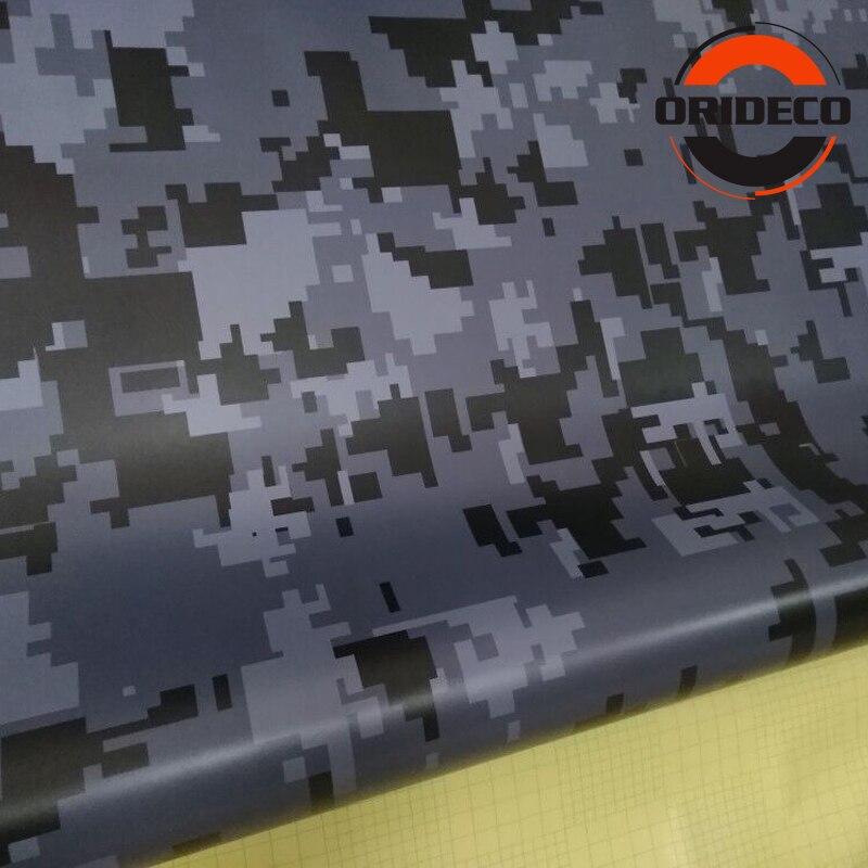 5/10/15/20/25/30m * 1.52m Grijs Zwart Digitale Camouflage Auto sticker Digit Camo Vinyl voor Auto Voertuig Body Wraps - 4