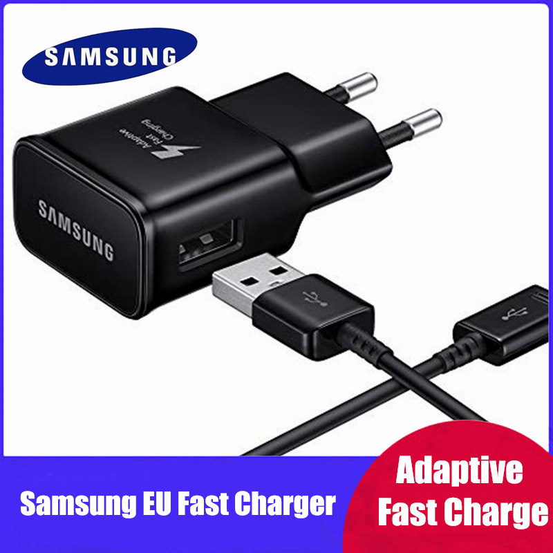 Samsung Adaptive Schnelle Ladegerät Für Galaxy s10 s10e S8 S9 Plus Hinweis 8 <font><b>9</b></font> A3 A5 A7 2017 <font><b>USB</b></font> wand quick Charge Power Adapter image