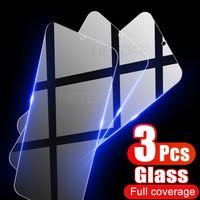 Vidrio de protección completa para OnePlus 3, 5, 6, 7, 3T, 5T, 6T, 7T, 8T, Protector de pantalla templado para OnePlus Nord N10 N100, 3 uds.