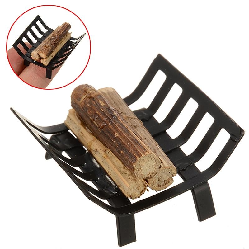 1:12 Dollhouse Miniature Furniture Garden Lawn Fireplace Metal Firewood Rack