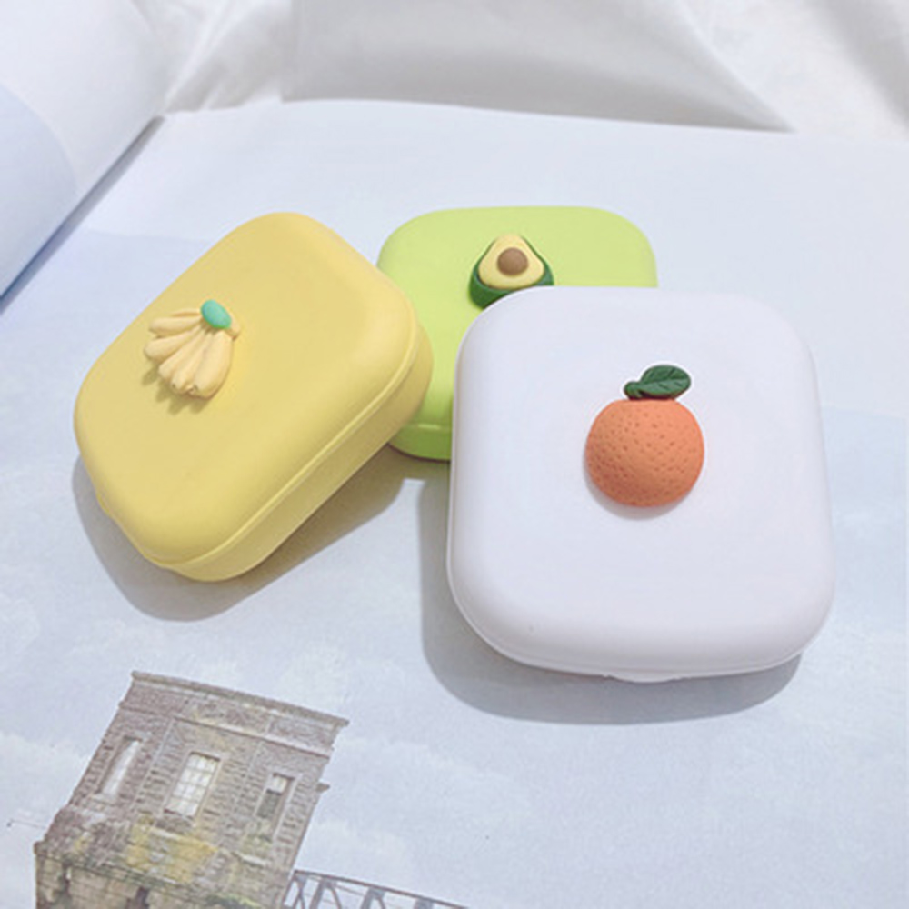 2020 Fruit Contact Lens Case With Mirror Women Man Unisex Contact Lenses Box Eyes Contact Lens Container Lovely Travel Kit Box