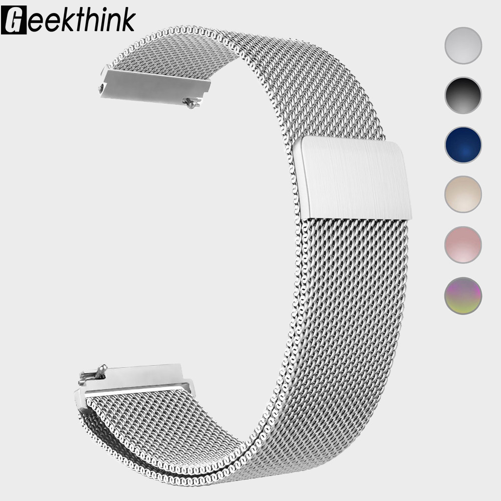 22mm 20mm Stainless Steel Watch Band Milanese Loop Watch Strap Quick Release Pins For Samsung Galaxy Gear S3 Frontier S2 Classic