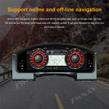 "12.3 ""Android 9 Strumento di Sostituzione del Pannello Cruscotto Sistema di Intrattenimento Per Toyota Land Cruiser 2008-2019 multimedia player(China)"