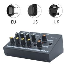 EU/UK/US Plug MIX800 8-Channels Mini Sound Mixer with Power Adapter Mono/Stereo Mixer Low Noise Sound Amplifier