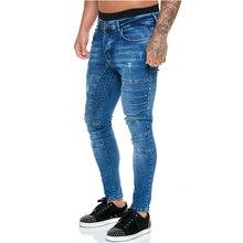 2020 мужские джинсы брюки мода мужской уличный тонкий повседневный брюки полный длина карандаш брюки брюки горячий 2020