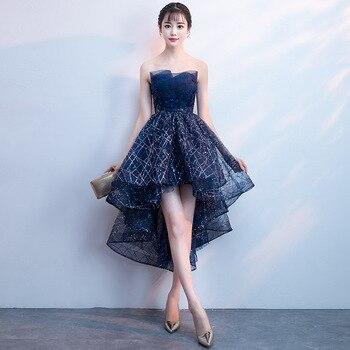цена New evening dress banquet tube top dress ladies elegant dress evening dress formal party dress онлайн в 2017 году