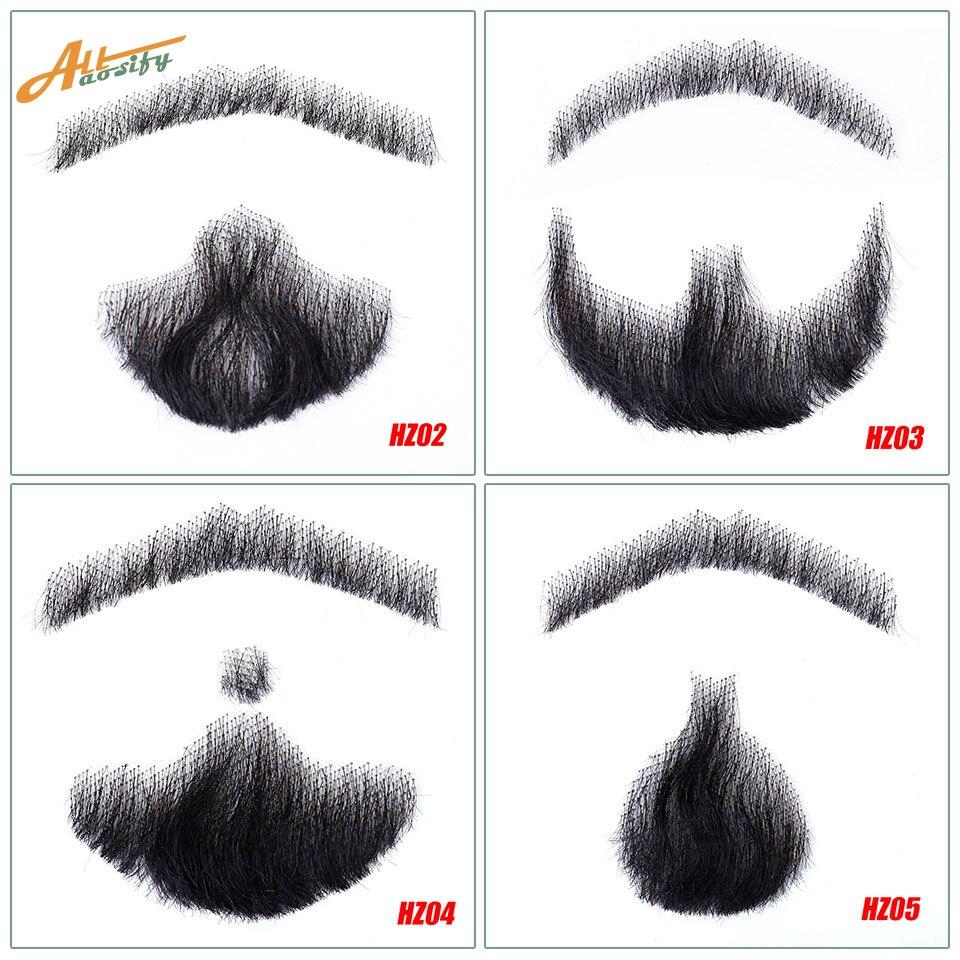 Allaosify Beard Props Invisible Fake Weave Men's Fake Beard Or Mustache Fake Mustache Videos Make-up Synthetic Simulation Beard