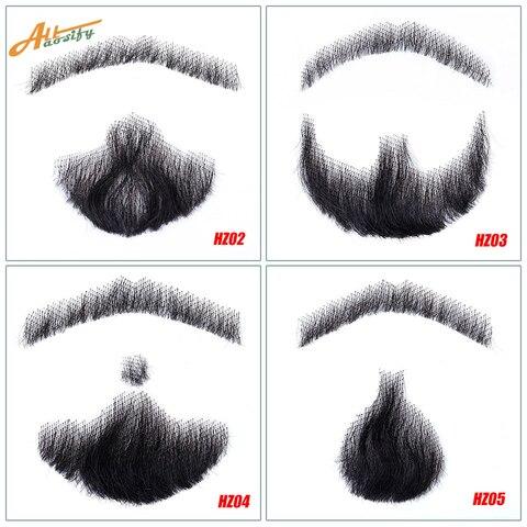 Allaosify Barba Adereços Invisível Falso Tecer Masculina ou Bigode Vídeos Maquiagem Sintética Simulação