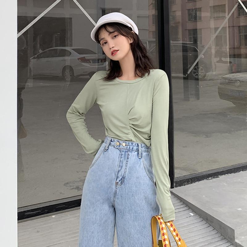 Classic Jeans Women Fashion 2019 Denim Pants Women Bottom Fashion  Wide Leg Loose Washed Jeans Female