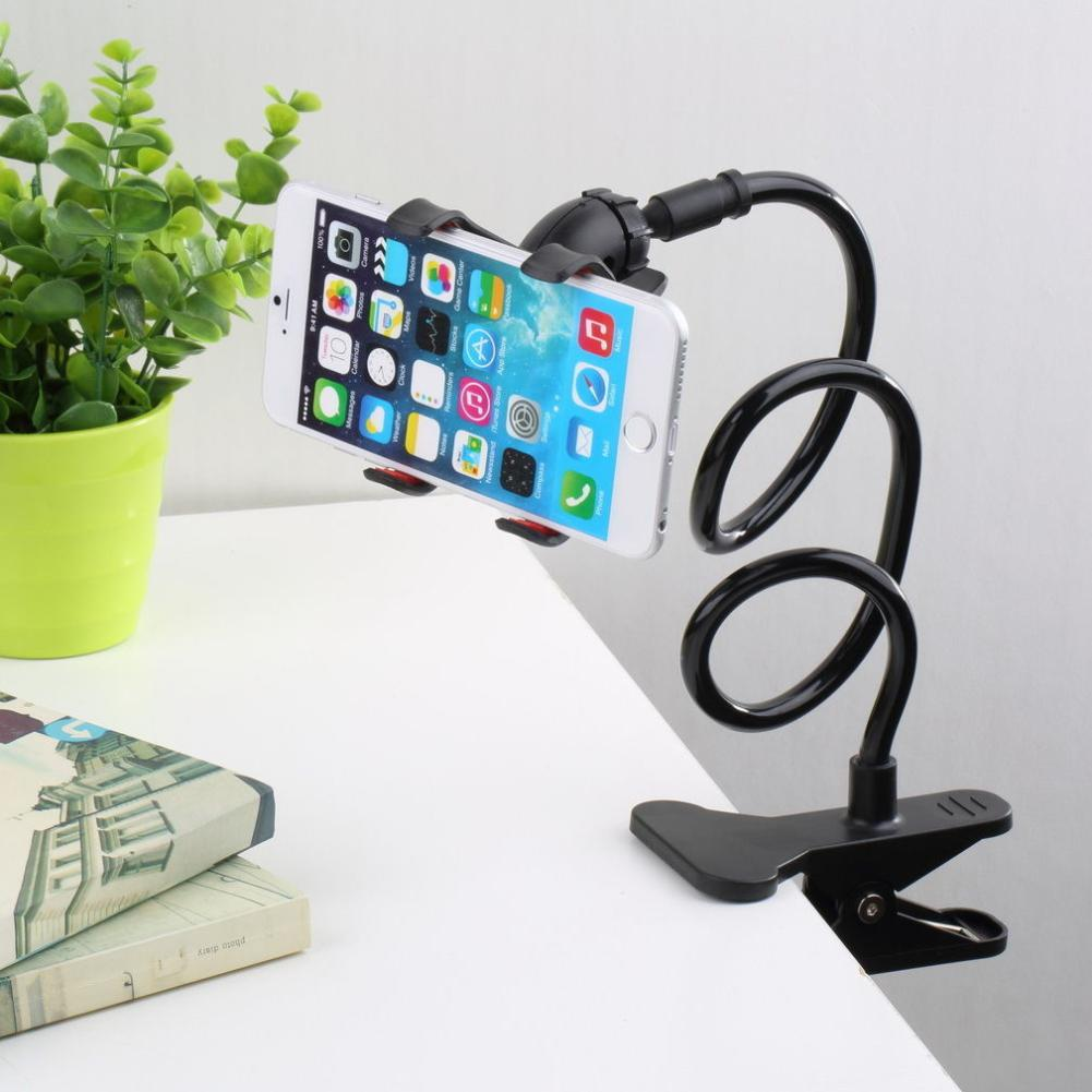 Portable Long Arm Mount Universal Cell Phone Tablet GPS Clamp Holder Stand Brace