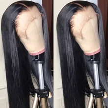Straight lace front wig Pre Plucked Human Hair Wigs Natural Color 4x4 5x5 6x6 7x7 closure wig Bulk Sale Remy Jarin Hair