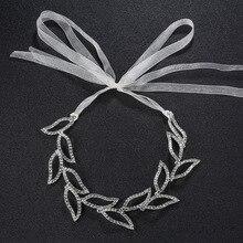 Exquisito taladro de agua accesorios Vintage dulce hoja hueco banda para el cabello novia boda accesorios para el cabello joyería de aleación