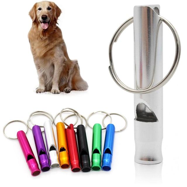 Puppy Pet Dog Whistle 70mm Ultrasonic Flute Stop Barking Ultrasonic Sound Repeller Dog Training Pet Supplies
