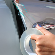 Наклейки для защиты дверей автомобиля, прозрачная нано-лента против царапин, Защитная пленка для порога багажника, Защитная пленка для края...