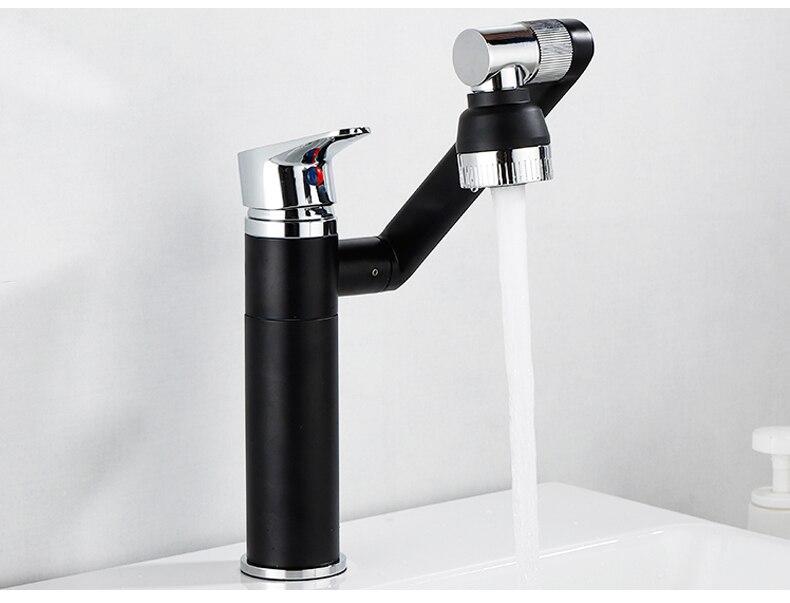 H98b026a6a58c4a8d9b8b01bab2faa001l ELLEN Multifunction Bathroom Sink Faucet Hot Cold Water Mixer Crane Antique Bronze Deck Mounted Universal Water Taps EL1326