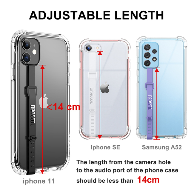 2pcs Soft TPU clear Wristband Hand Band silicone Grip Phone Hand Finger Ring Holder Strap Ropes For Samsung For iPhone kickstand 5