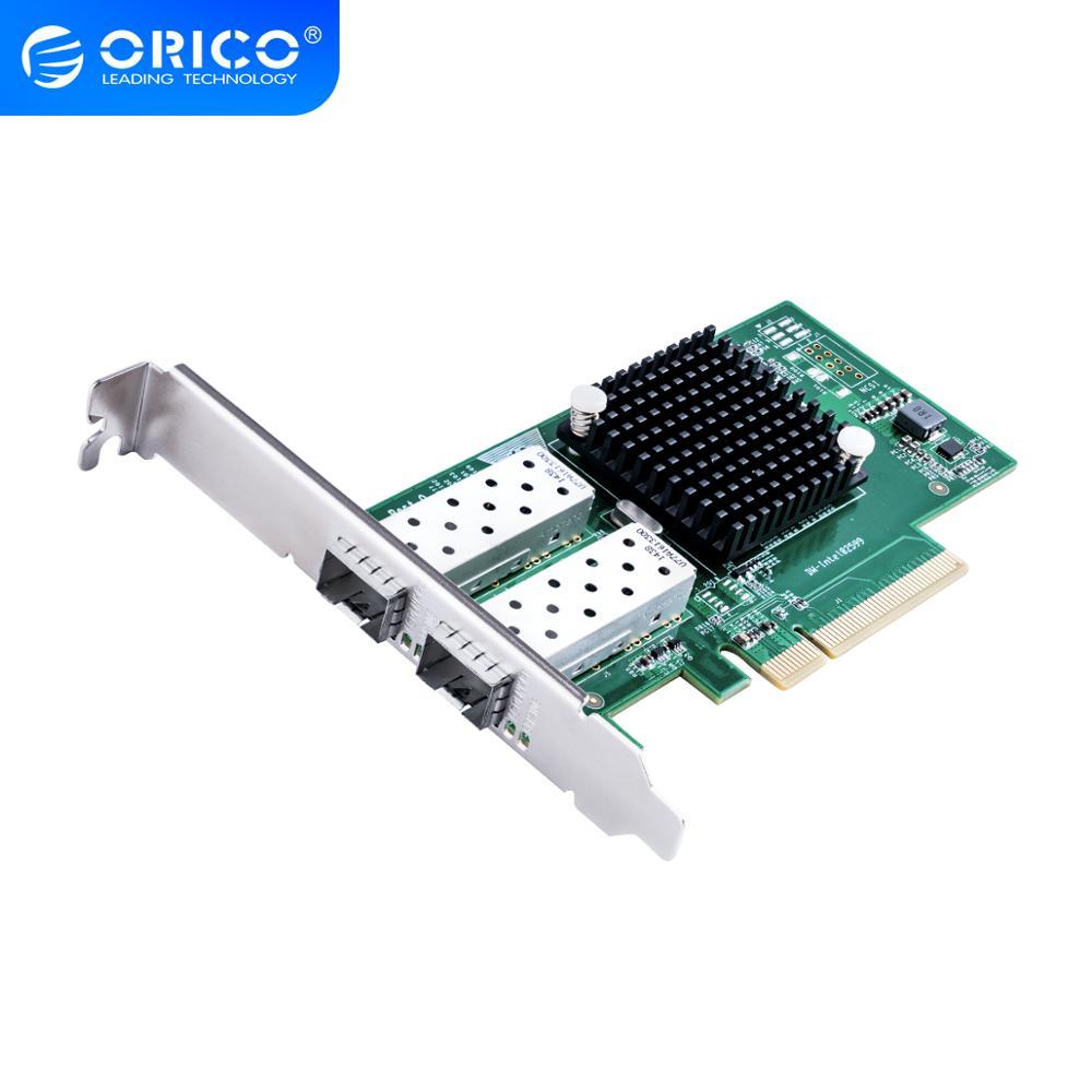 Сетевой адаптер ORICO PCIE, 2 порта, 10 гигабитных портов, экспресс карта расширения для компонентов настольного компьютера, высокая скорость