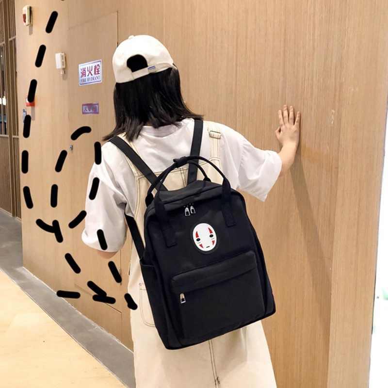 אנימה איור תרמילי המסע מופלא לא פנים איש תרמיל Kaonashi נשים בנות ילדים אופנה שקיות