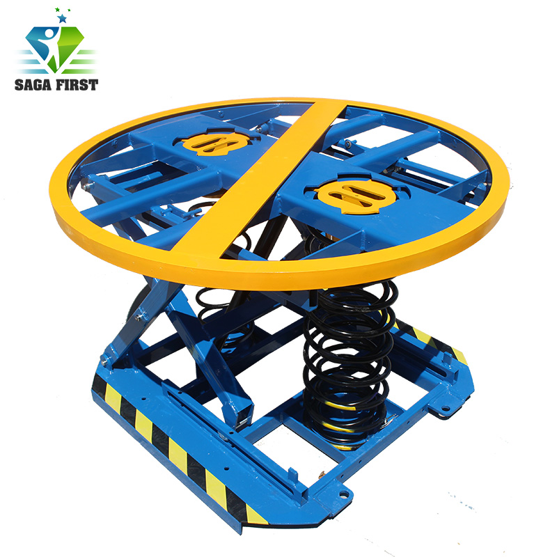 Electric Pallet Scissor Lift Table With Springs
