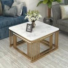 Мраморная комбинированная боковая мебель для гостиной журнальный