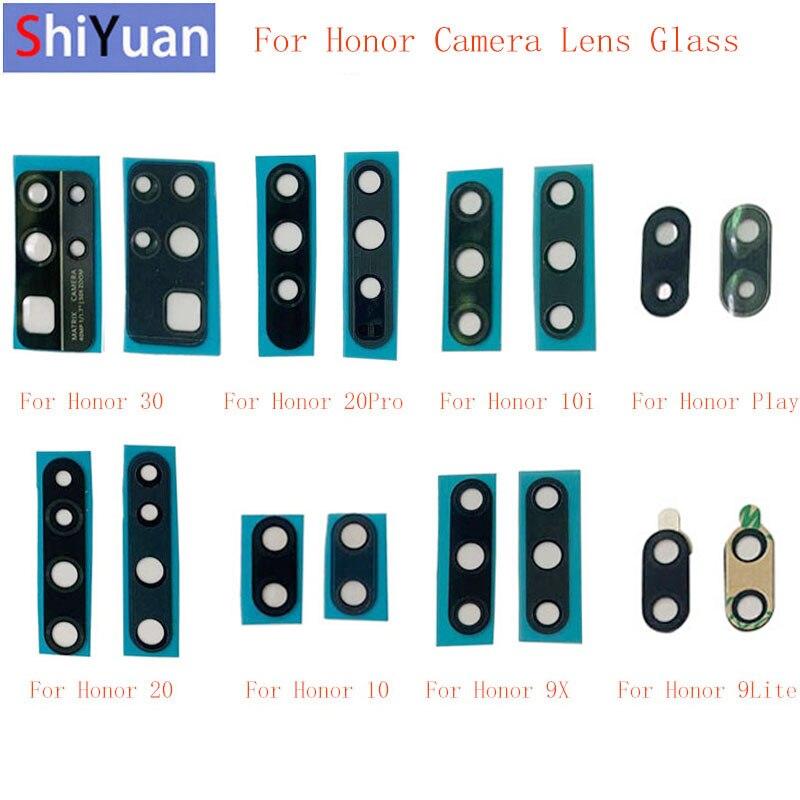 2 шт. задняя камера объектив стекло для Huawei Honor 30 20 Pro 20 10i 10 9X Play 9 Lite камера Стекло Объектив Замена Ремонт