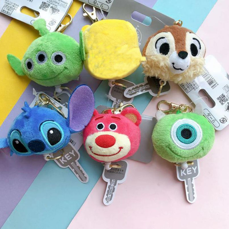 1 Pc Lovely Plush Telescopic Keychain Cartoon Lilo & Stitch Pendant Stuffed Plush Toys Plush Dolll Kids Gift