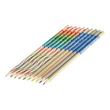 2 Pcs Colorful Pencil Rainbow Color Lead Pencil 4 Mixed Colors Multicolor Student DIY Graffiti Drawing Pencil For Children Kids