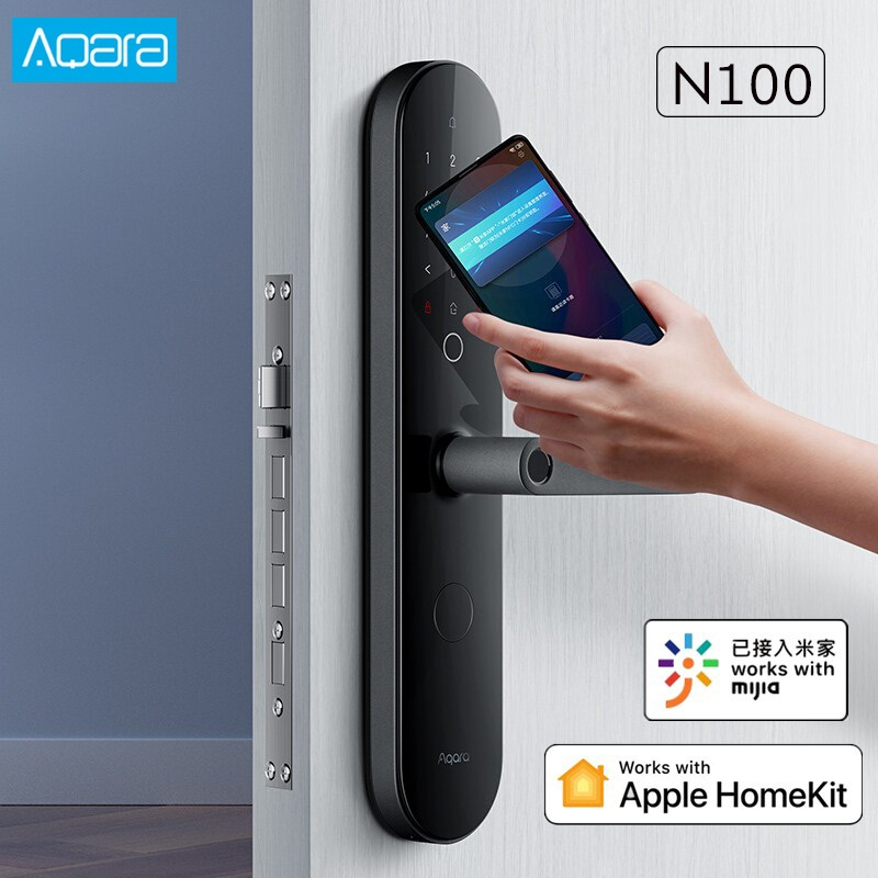 AQara N100 Smart Door Lock Fingerprint NFC Password Unlock Smart Home Work With Apple HomeKit Mijia APP