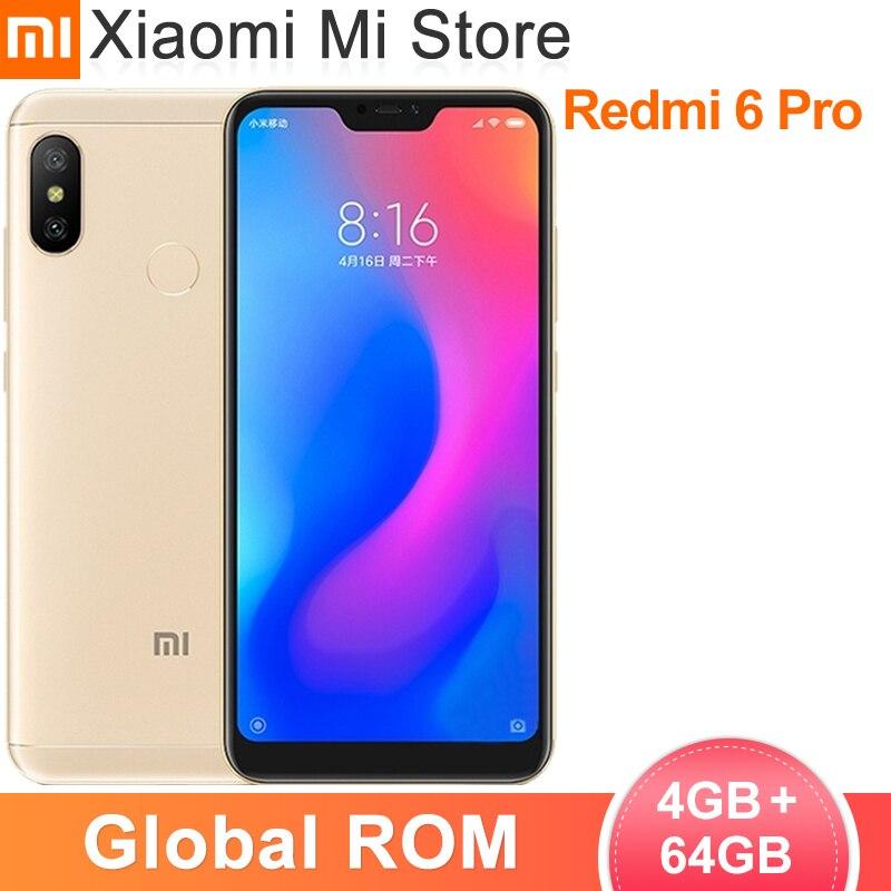 Смартфон Xiaomi Redmi 6 Pro, 4 Гб ОЗУ 64 Гб ПЗУ, Snapdragon 625, 5,84 дюйма, 19:9 экран, 4000 мАч, 12 Мп + 5 МП, двойная AI камера|Смартфоны и мобильные телефоны|   | АлиЭкспресс