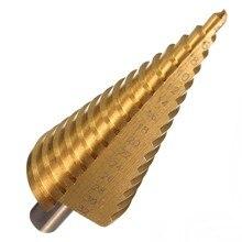 Hss broca de titânio hexagonal, broca afunilada de passo para furadeira chave de fenda 4-20mm