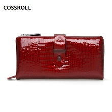 genuine leather wallet women long female purse 100% cow wallets and purses luxury brand real card holder