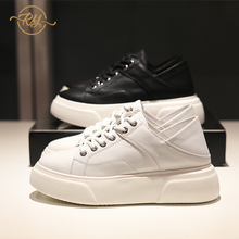 RY-RELAA women sneakers 2020 fashion Genuine Leather white sneakers wom