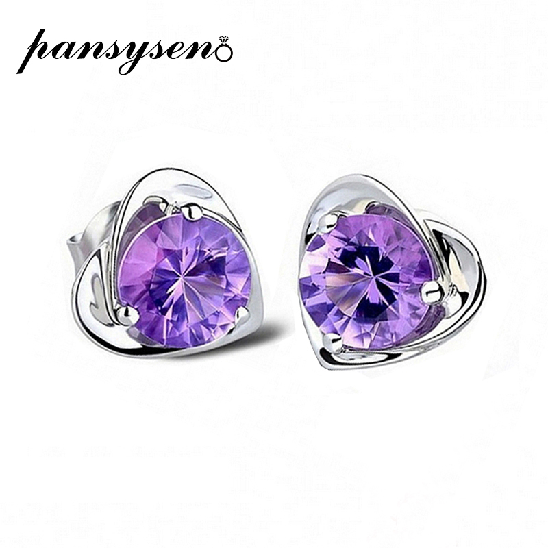 PANSYSEN Stud-Earrings Amethyst Fine-Jewelry Gemstone 925-Sterling-Silver Wedding Women title=