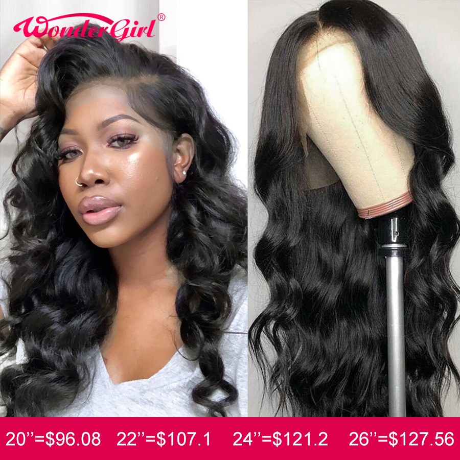 Wonder Girl Body Wave Wig 13x6 Lace Front Human Hair Wigs Remy 360 Lace Frontal Wig Pre Plucked With Baby Hair Peruvian Lace Wig