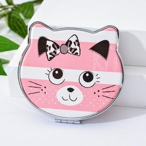 Image 5 - Vicney 2019 New Fashion Cat Element Cute Cartoon Double Side Mirror Pocket Mirror Girls Mini Make Up Mirror Beauty Mirror