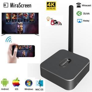 Mirascreen x12 2.4g 5g 4 k sem fio hdmi android tv vara miracast airplay receptor wifi dongle espelho tela mídia streamer elenco