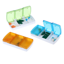 1PCS 3 Grids Pill Box Case Pills Organizer Case Portable Travel Medical Drugs Tablet Storage Container Medicine Box