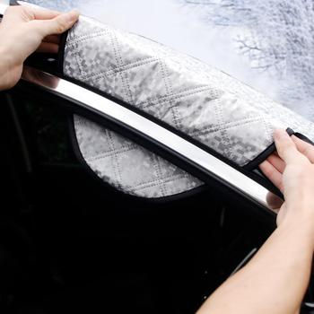 240*190cm Magnetic Car Windshield Snow Cover Tarp Winter Ice Scraper Frost Dust Guard Sunshade Protector Protector Heat Sun Mat 2
